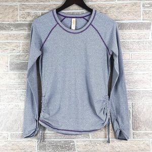 Lucy Dashing Stripes Long Sleeve Athletic Top M